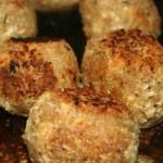 Tofu-Grünkern-Kugeln gebraten