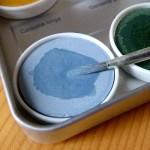 Naturfarbe japanische blaualge hellblau
