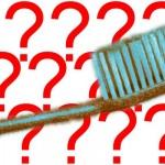 Die kompostierbare Zahnbuerste mit Fragezeichen