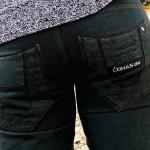 Öko-Jeans blue Detail Gesäßtaschen