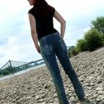 Öko-Designer-Jeans Unikat von Hinten