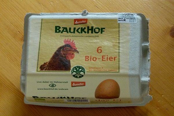 Bio-Eier vom Bauckhof in Demeter-Qualität