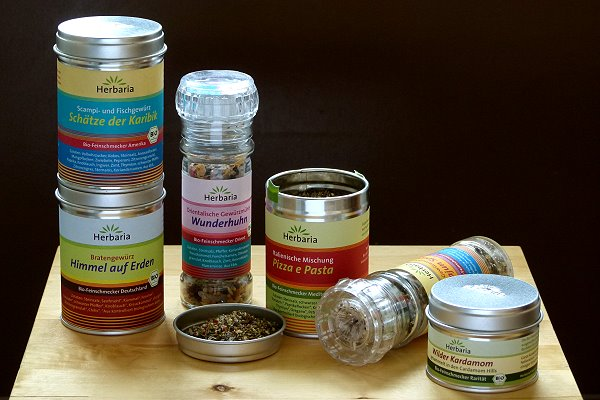 Bio-Feinschmecker-Gewürzmischungen von Herbaria
