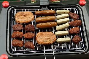 veganes Grillpaket auf Elektrogrill