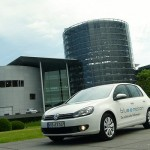 VW-Blue-e-Motion vor VW-Manufaktur