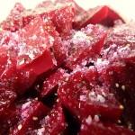 Rote Beete Salat gewürzt