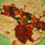 gefüllter Tortilla