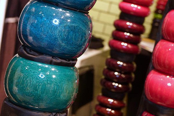 Holzarmreifen rot und blau