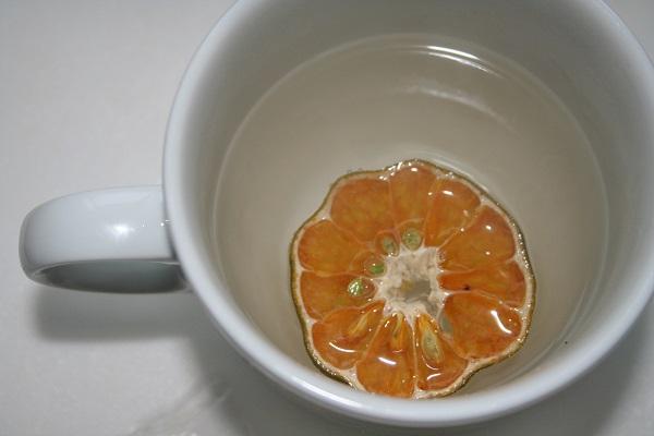 Limettenscheibe in der Tasse
