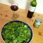 Salat angerichtet