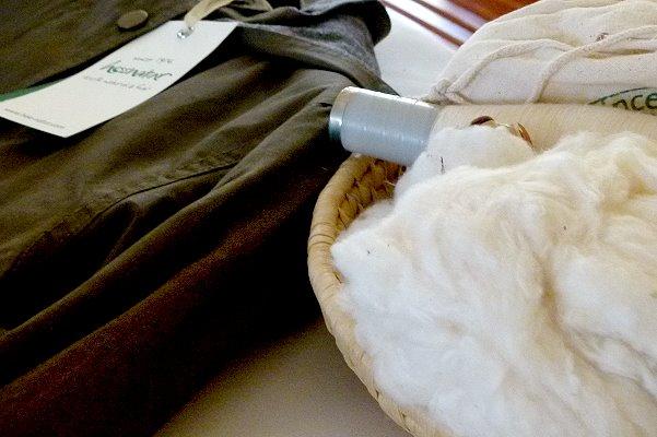 Verschiedene Veredelungsschritte bei Bio-Baumwolle
