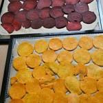Rote Beete und Süsskartoffelscheiben