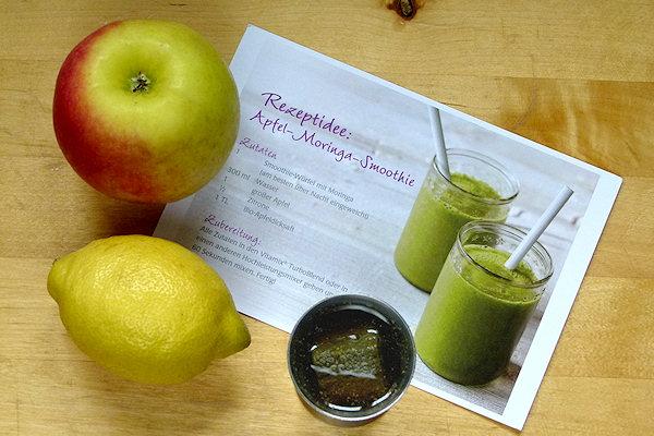 Zutaten für Moringa-Drink