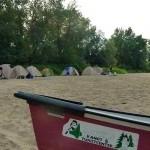 Kanu mit Zelten