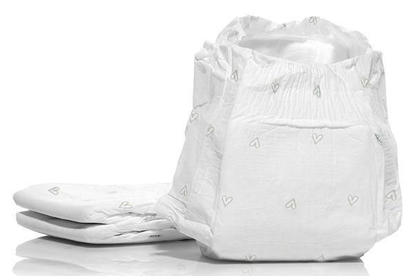 Öko-Windeln ohne Verpackung