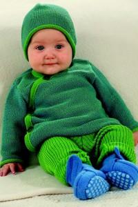 Baby mit Disana Textilien