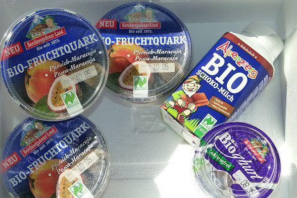 Bio-Quark, Bio-Schoko-Milch, Bioghurt laktosefrei