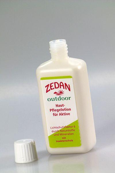 Natürlicher Sonnenschutz von Zedan in Flasche