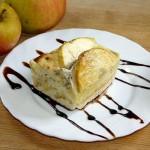 Rezept mit altbackenen Milchbrötschen - Apfel Mohn Auflauf