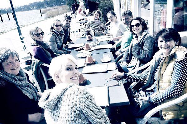 Gruppenfoto mit Frau Kaufmann-Maas