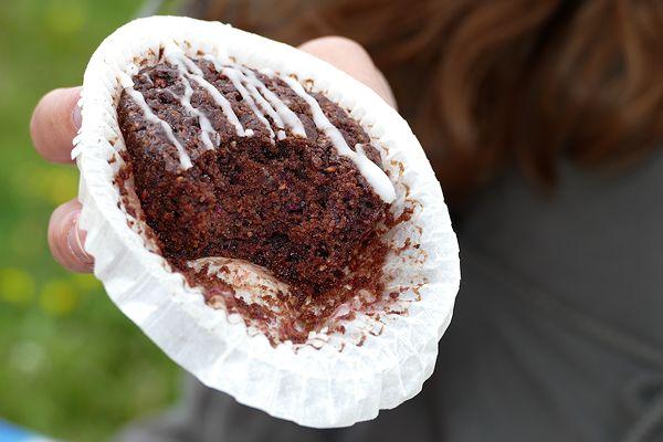 Muffin angebissen