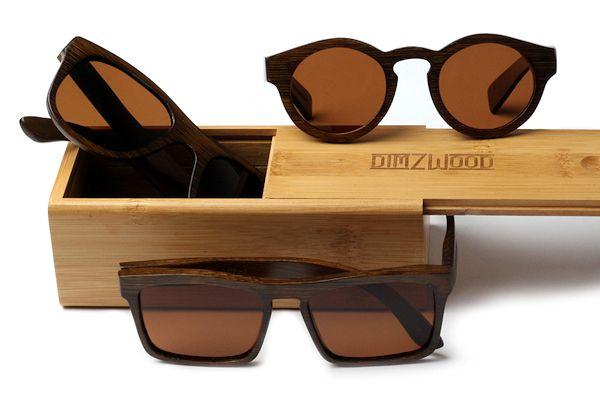 Dimzwood Sonnenbrillen aus Holz dunkel