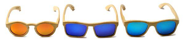 Dimzwood Sonnenbrillen aus Holz hell