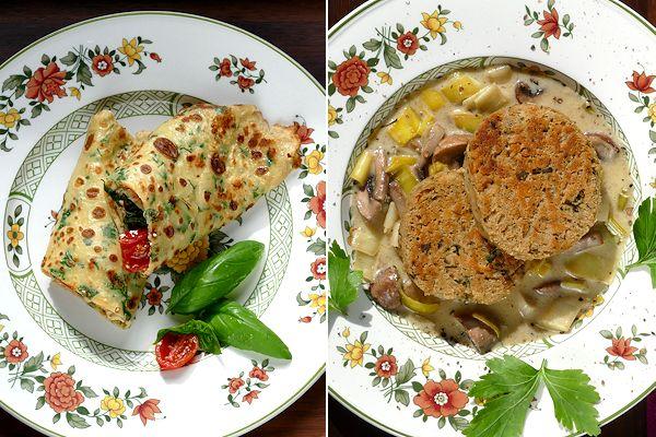 kochzauber Dinkelpfannkuchen und Serviettenknödel