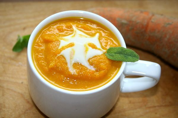 Vegane Karottensuppe