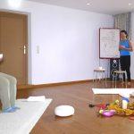 Mit Monika im Yogaraum vom Biohotel Schweitzer