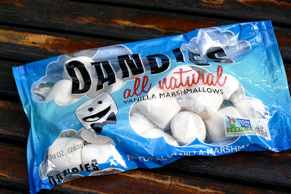 Packung vegane Marshmallows