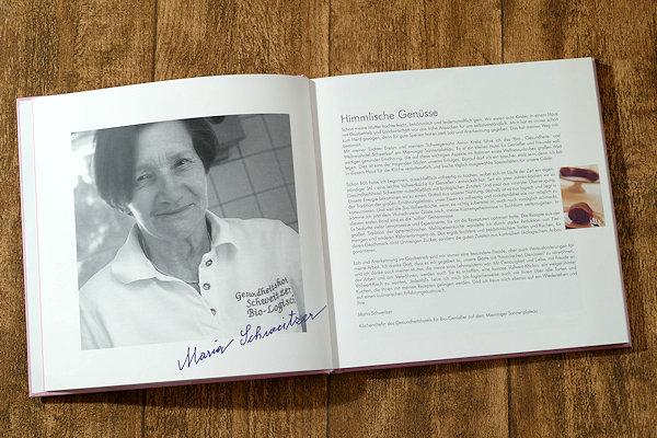Maria Schweitzers Backbuch Bild + Vorwort