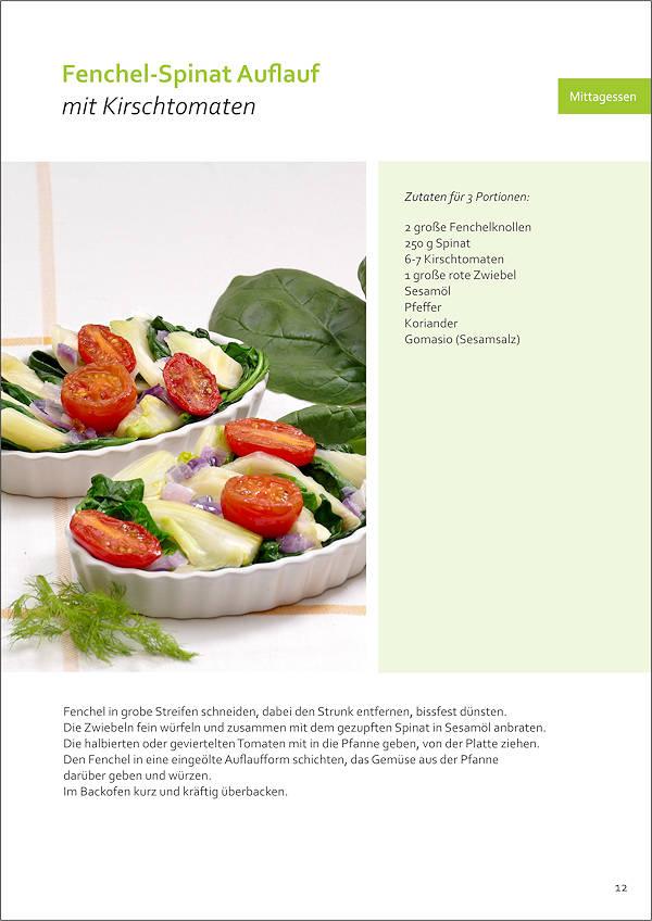 Rezept Fenchel-Spinat Auflauf