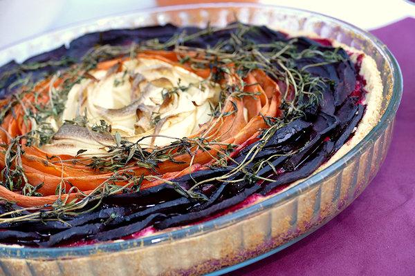 Gemüse-Tarte fertig gebacken