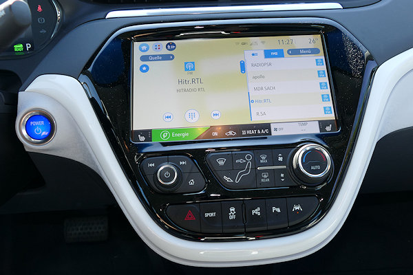 Ampera-E Mittelkonsole mit Touch-Screen
