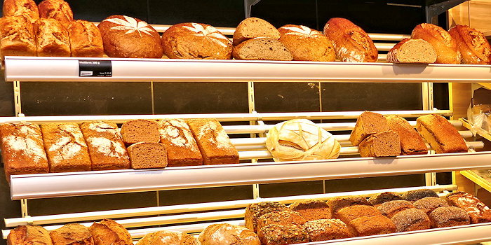 Bio-Brot Auslage