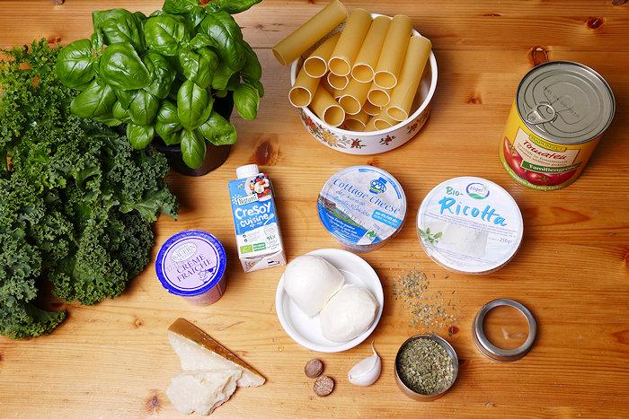 Grünkohl-Ricotta-Cannelloni die Zutaten