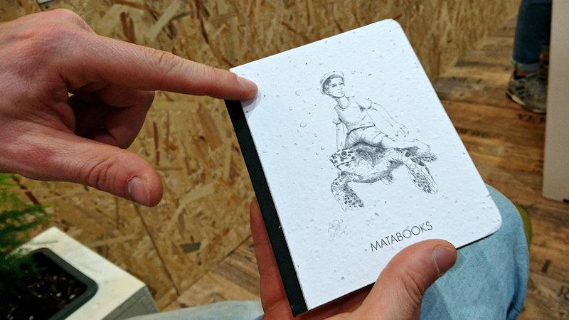 Matabooks Buchcover aus Samenpapier