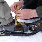 Schneeschuhe sicher anziehen