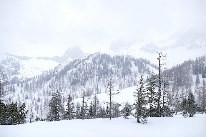 Winterlandschaft am Dachstein bei Schnee