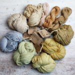 Reines Kaschmirgarn, gefärbt mit Pflanzenfarben