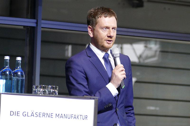 Ministerpräsitent Michael Kretschmer spricht auf NKF Summit in Dresden