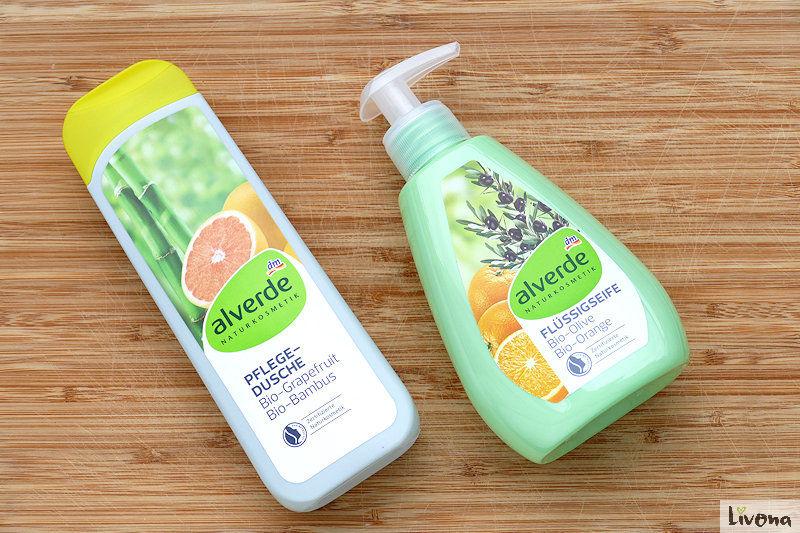 Duschgel und Flüssigseife von alverde abgefüllt in Kunststoff
